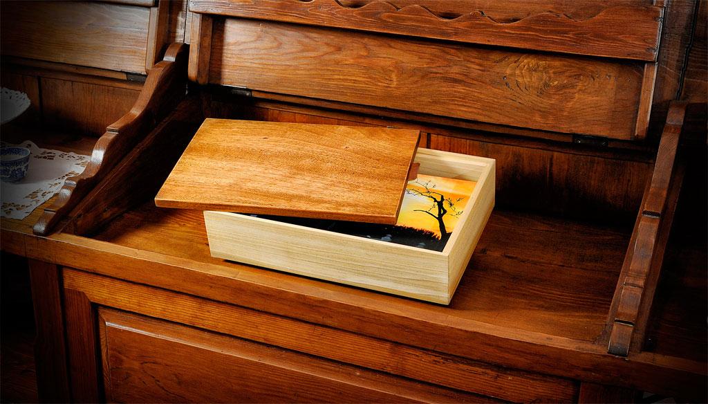 Box Portafoto Ecologico in Legno Linea Scrigno